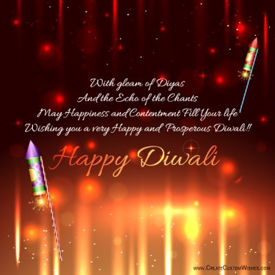 Write your message on diwali crackers
