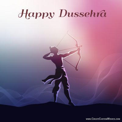 Write text on happy dussehra image 2018
