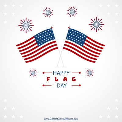 Customized Happy Flag Day Wishes card