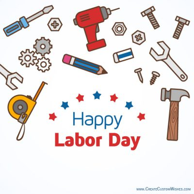 Customized Labor Day Wishes card
