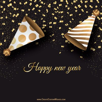 Make your own Happy New Year Wishes card