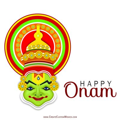 Customized Happy Onam Wishes Card