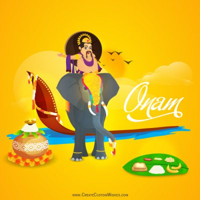 Make your Own Happy Onam Wishes Card