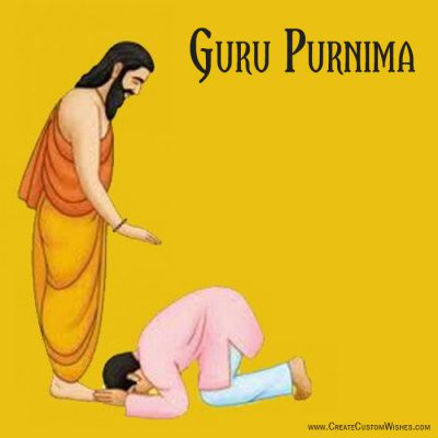 Customized Guru Purnima wishes card