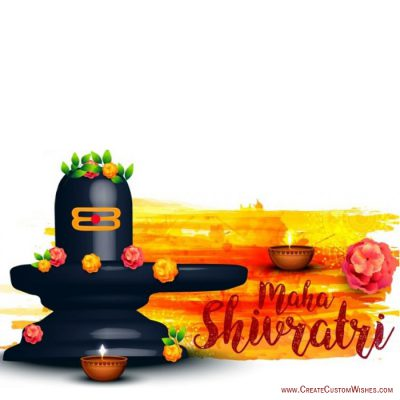 Write your messages on maha shivratri image