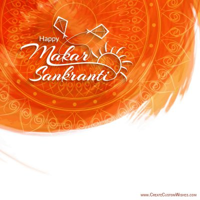 Write your name on Makar Sankranti image