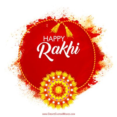 Create Custom Rakhi Card with Your Name