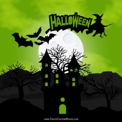 Create Customize Halloween Wishes eCard