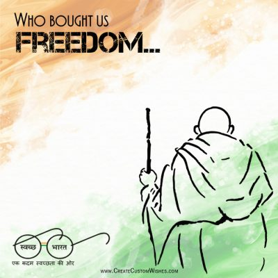 Create Custom Gandhi Jayanti Card with Name
