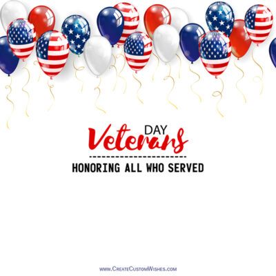 Create Veterans Day Wishes with Name