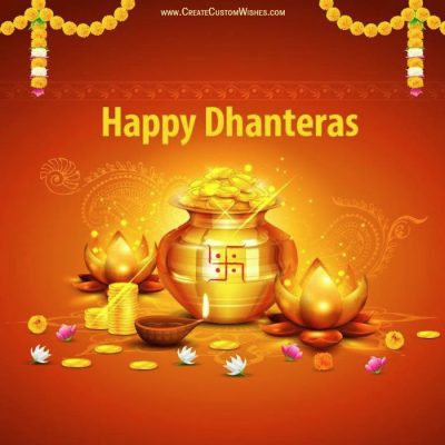 Make Custom Happy Dhanteras Wishes Card