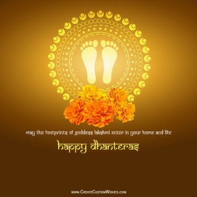 Write Name on Shubh Dhanteras Photo