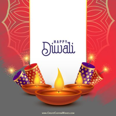 Make Happy Diwali Cracker Card Online