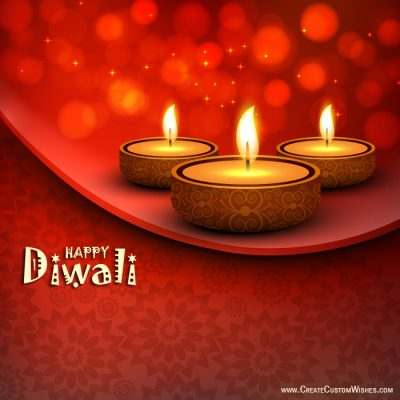 Free Customize Diwali / Deepavali Greetigns Card