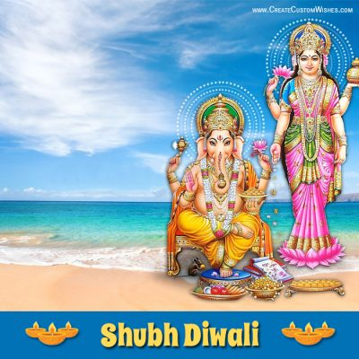 Create Shubh Diwali Card with Name