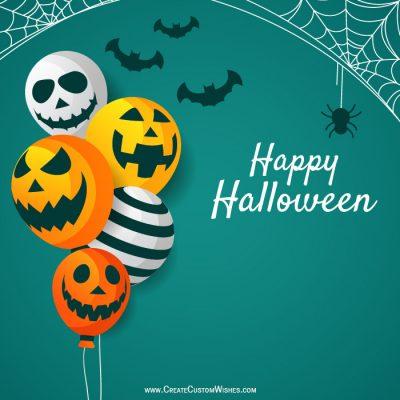 DIY Make Your Own Happy Halloween eCard