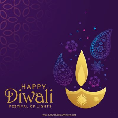Write Text on Diwali Wishes Card Online