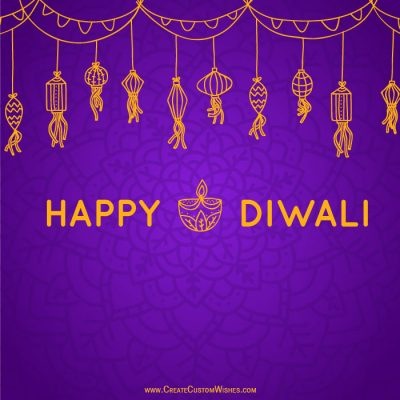 Write Name on Happy Diwali Greeting Cards