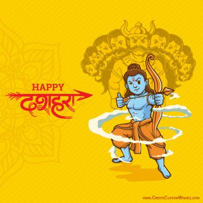 Make Custom Happy Dussehra Wishes Image