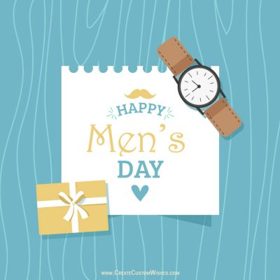 Make Men's Day Wishes Card Free