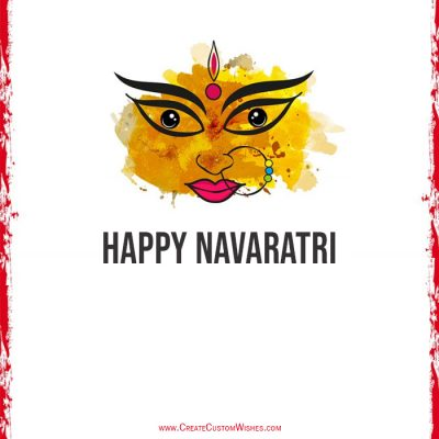 Make Custom Happy Navaratri with Name