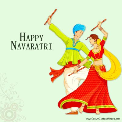 Create Custom Navaratri Wishes with Name