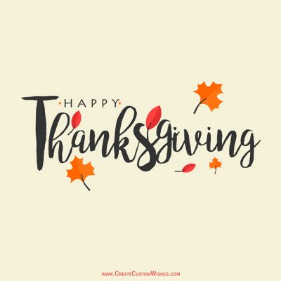 Happy Thanksgiving Wishes Card with Name