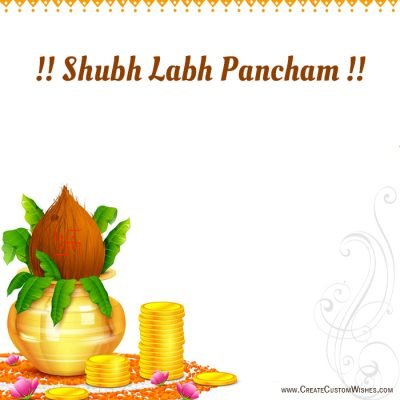 Write Name on Shubh Labh Pancham Image