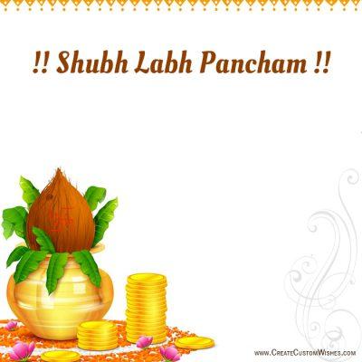 Write Name on Shubh Labh Pancham Image