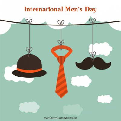 Happy Men's Day Image with Name