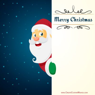 Write Name on Merry Christmas eCards