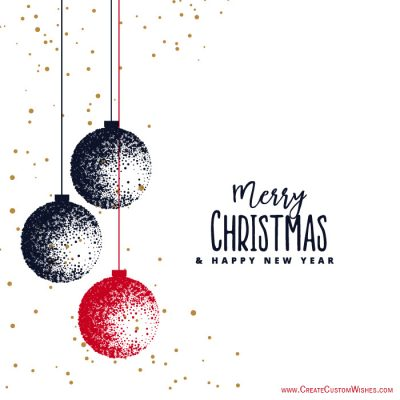 Merry Christmas Image with Name