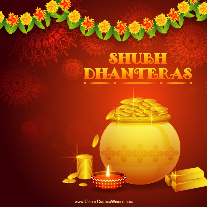 Shubh dhanteras with your company logo create custom wishes m4hsunfo