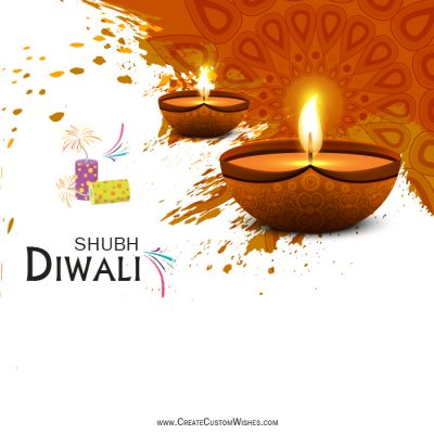 Create Most Beautiful Diwali Greetings Card