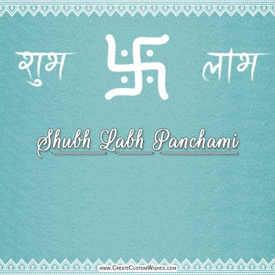 Free Customize Labh Panchami Wishes Card