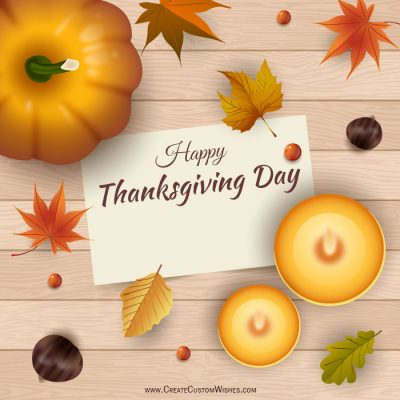 Write name on Thanksgiving Day Image