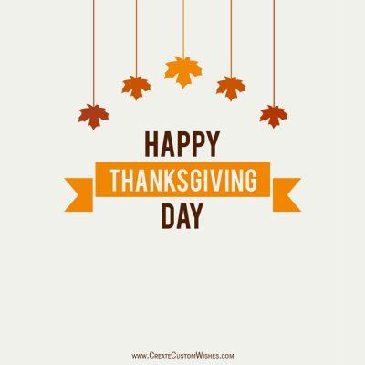 Customizable Thanksgiving Greeting Card