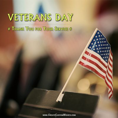 Happy Veterans Day Image with Name