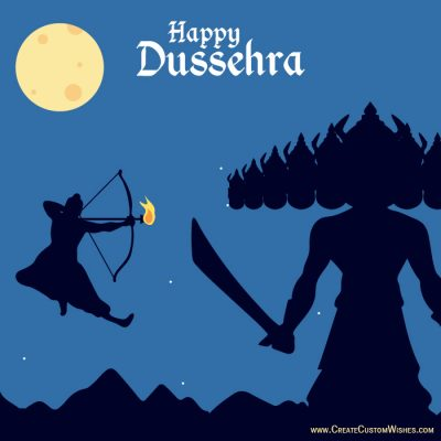 Create Custom Dussehra Wishes Card