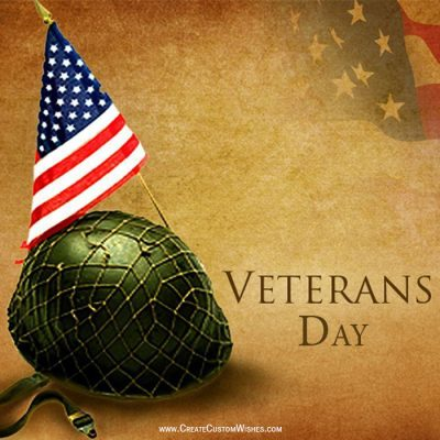 Make Custom Veterans Day Wishes Card
