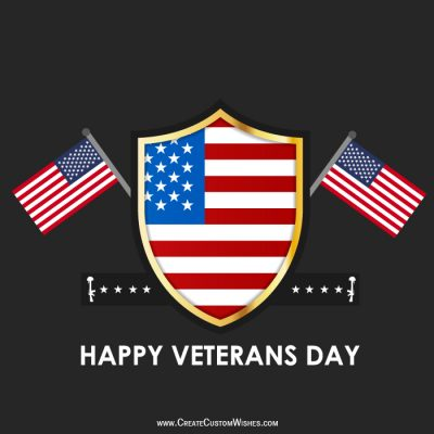 Write Text on Veterans Day Wishes Card