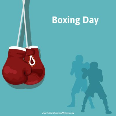 Write Text on Boxing Day Sale Poster