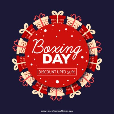 Personalize Boxing Day Sale Images