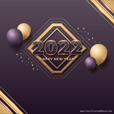 DIY - New Year 2022 Wishes Maker Free