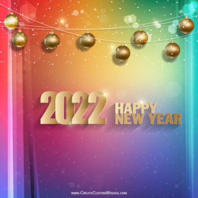 Free 2022 Happy New Year Wishes Image for Girlfriend