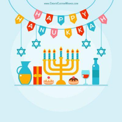 Hanukkah Greetings Cards with Name
