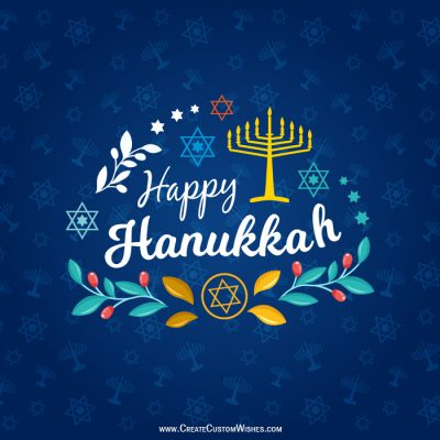 Happy Hanukkah Image with Name