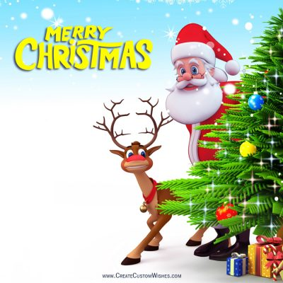 Santa Claus - Christmas Greetings Cards