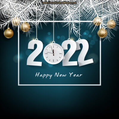 Write Text on Happy New Year Wishes Card for Boyfriend