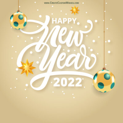 Write Text on New Year Wishes Image for Wife